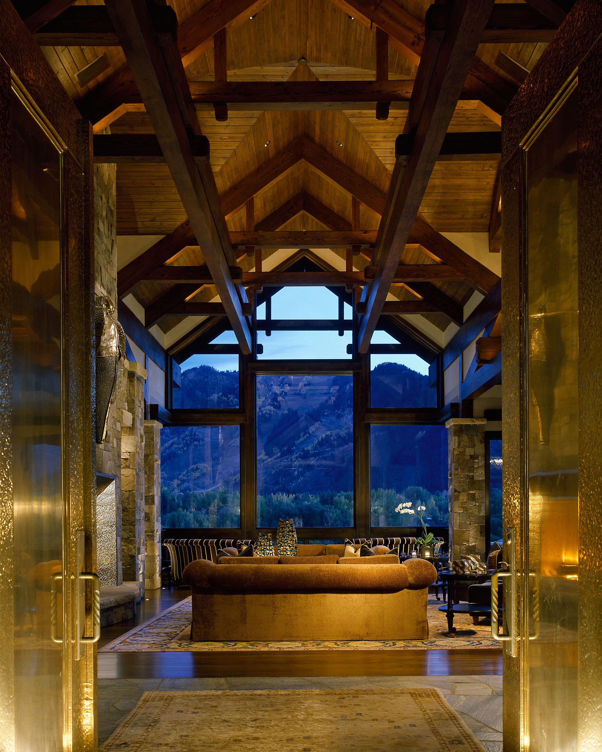 aspen manor Livingroom aspen manor charles cunniffe architects,Aspen Style Home Designs