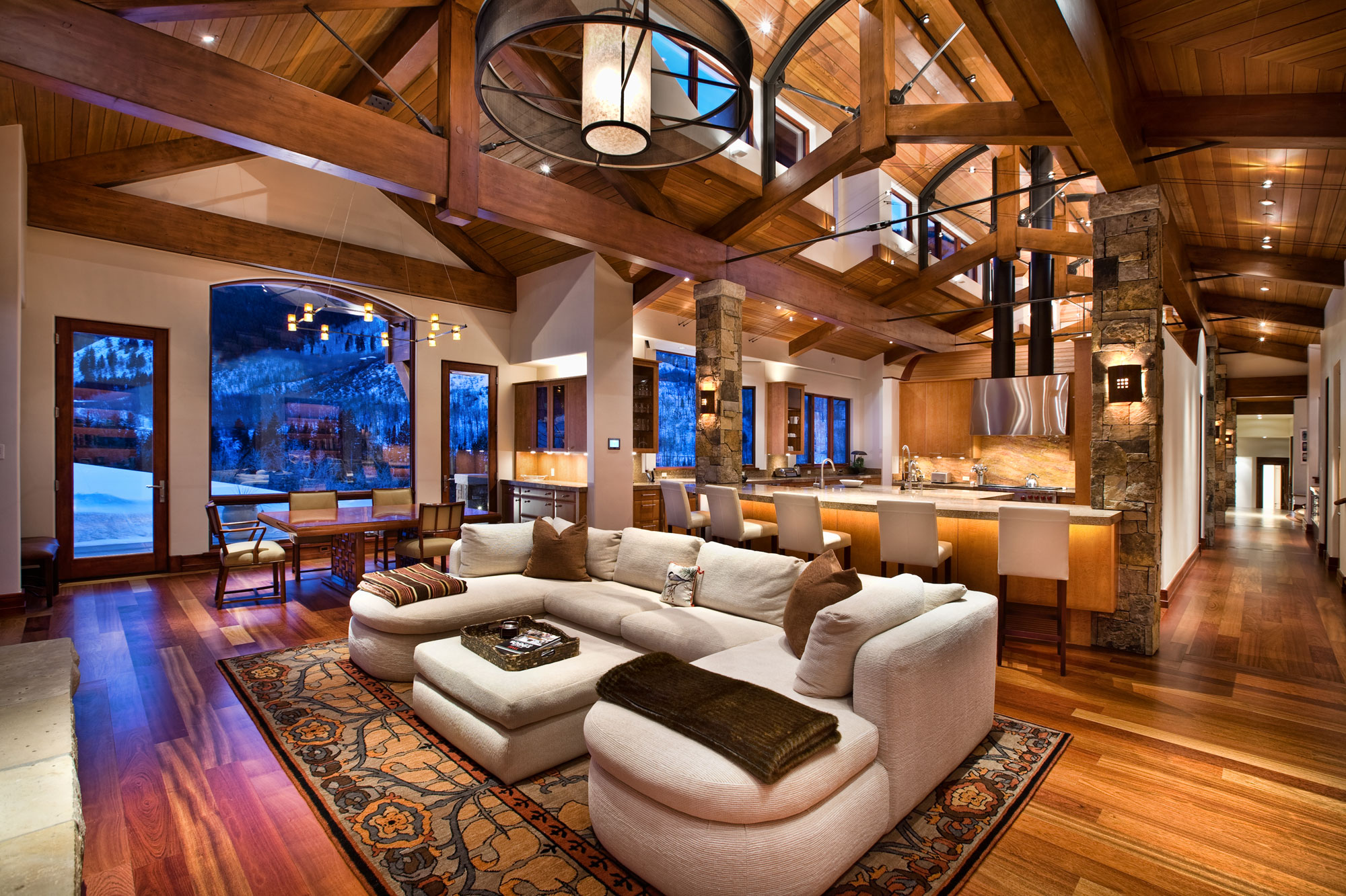 Jigsaw ranch charles cunniffe architects for Aspen home design